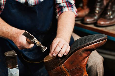 City Shoe Repair Cobbler Fixes Worn Heels Lifts Soles