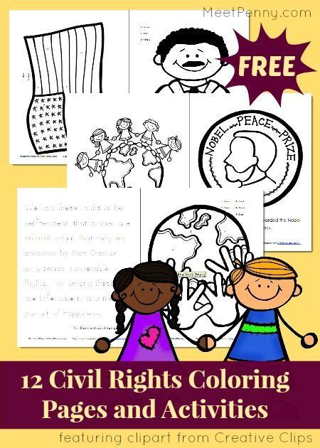 Civil Rights Coloring Pages and Activity Pack Linky