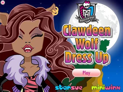 Clawdeen Wolf Dress Up Monster High Dress Up Games