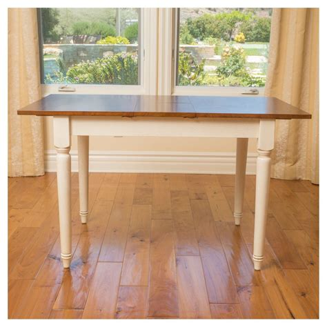 Clearwater Dining Table with Leaf Extension Wood Dark Oak