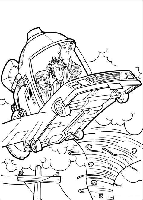 Cloudy with a chance of meatballs coloring pages on