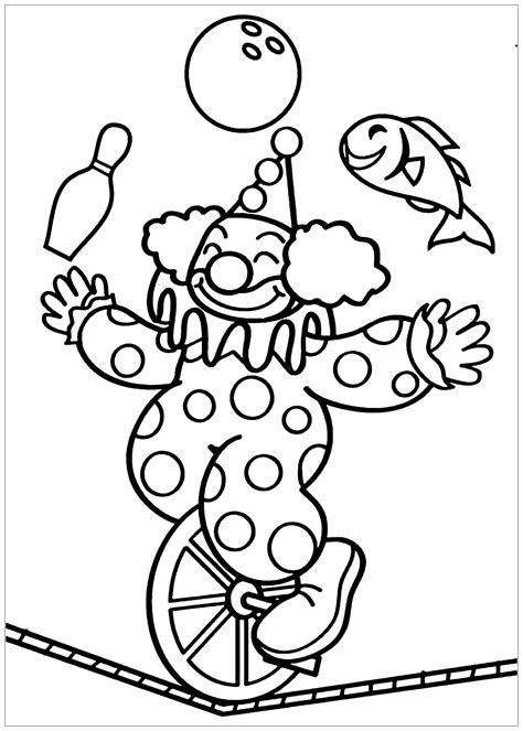 Clown Coloring Pages for Kids Free Printable Clown
