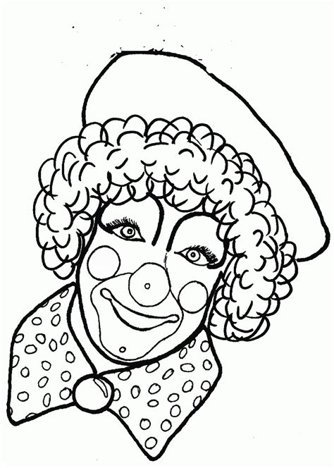 Clown Coloring Pages gotyourhandsfull