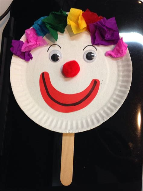 Clown Crafts for Kids Make clowns with easy arts and