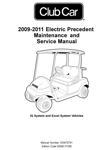 Club Car 2009 Electric Precedent Maintenance And Service