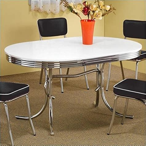 Coaster 50 s Retro Nostalgic Style Oval Dining Table
