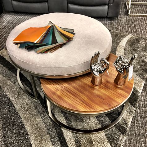 Coffee Table With Nesting Ottomans Coffee Tables Thippo
