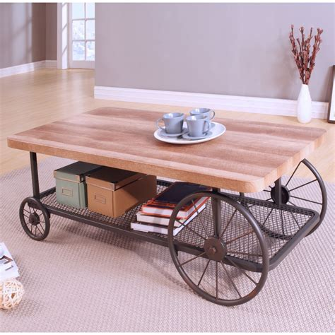 Coffee Table with Wheels eBay