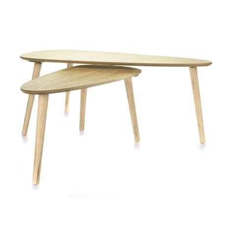 Coffee Tables Natural Set of 2 Kmart
