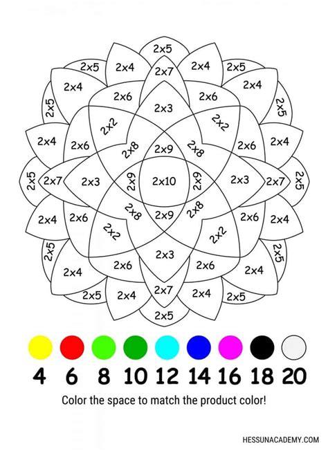 Color By Number Multiplication Worksheets Printable Worksheets