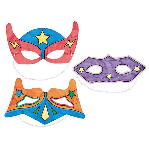 Color Your Own Superhero Masks Oriental Trading