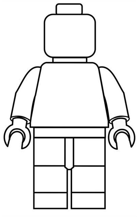 Color a Lego Man Happily Uprooted