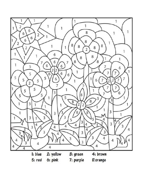 Color by Number Color Number Printable Coloring Numbers
