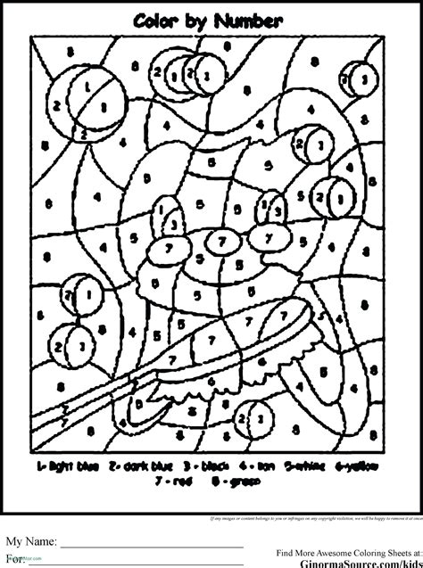Color by Number Coloring Pages Printables Education