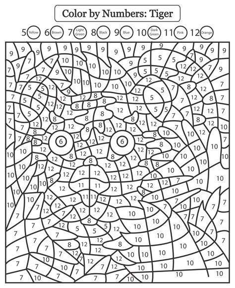 Color by Number Worksheets coloring pages Free Coloring