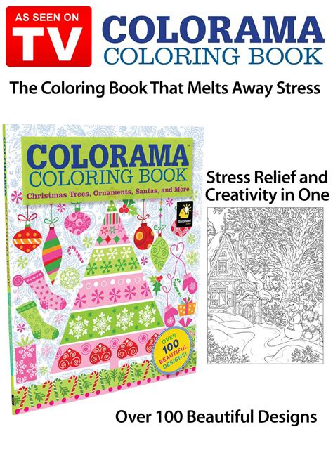 Colorama Christmas Coloring Book As Seen on TV