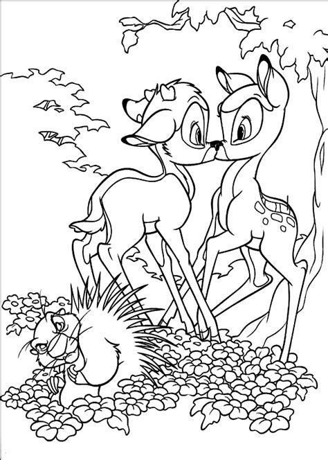 Coloriages Bambi imprimer dessin colorier Allofamille
