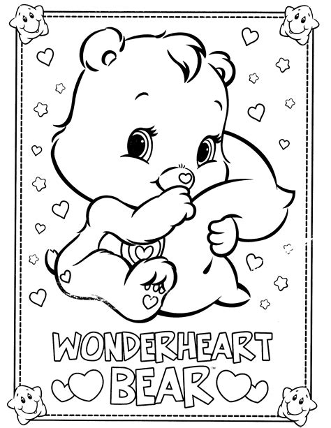Coloring Care Bear Care Bears Coloring Pages Care Bear