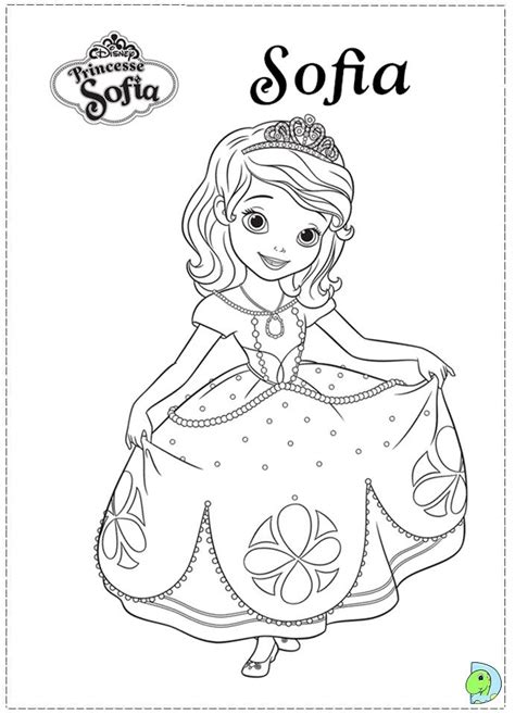Coloring Disney Sofia The First Coloring Pages Paint Sofia