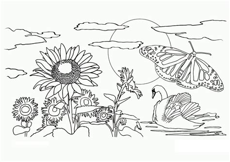 Coloring Nature Free Printable Coloring Pages