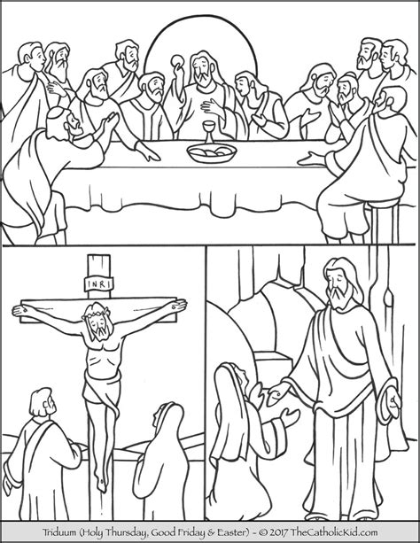 Coloring Page EASTER SUNDAY DAY 1 Holy Heroes