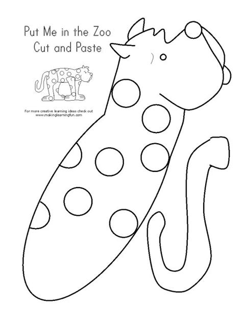 Coloring Page for Put Me in the Zoo Making Learning Fun