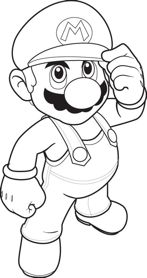 Coloring Pages Super Mario Drawing Morning Kids