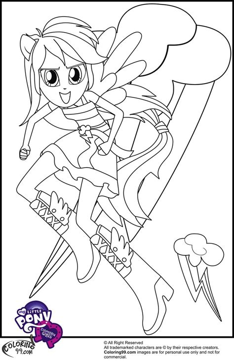 Coloring Pages of My Little Pony Equestria Girls Rainbow
