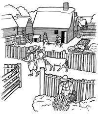 Coloring Pictures Plimoth Plantation
