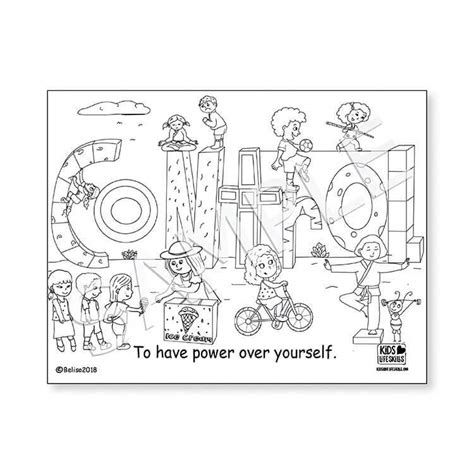 Coloring pages for kids Life skills life adversity