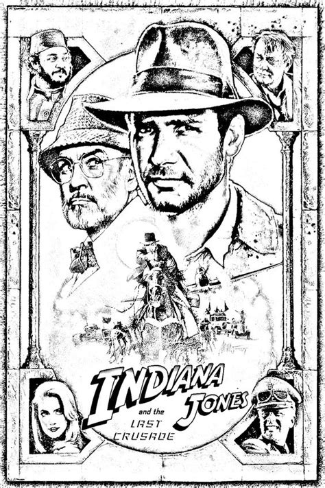 Coloring pictures of Indiana Jones