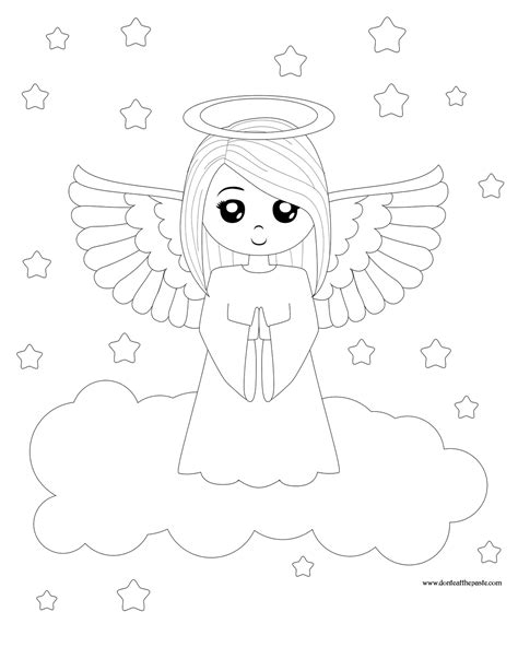 Coloring ws Angels Coloring Pages for Kids
