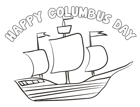 Columbus Day Coloring Pages Fun interactive Columbus Day