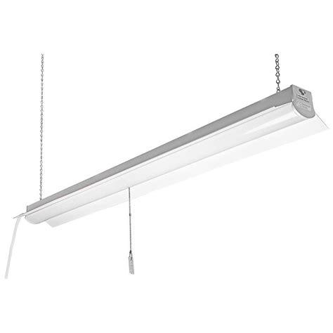 Commercial Electric 4 ft White LED Linkable Shop Light