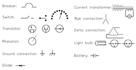 Commonly Used Electrical Symbols ErieBearings