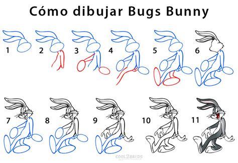 Como dibujar a Bugs Bunny paso a paso 2 Looney Tunes