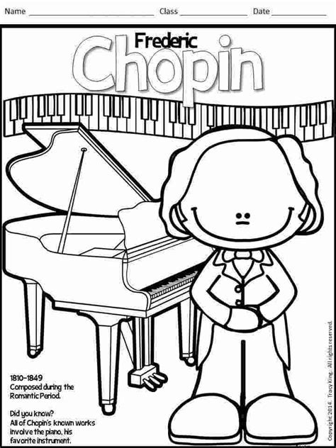 Composer Coloring Page Pinterest