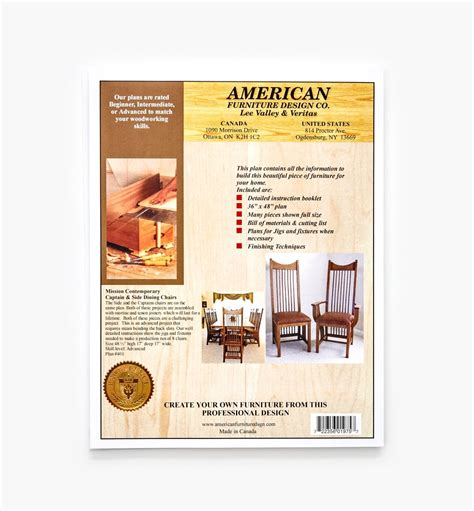 Contemporary Dining Set Plans Lee Valley Tools