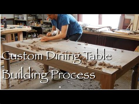Contemporary Dining Table building process by Doucette and