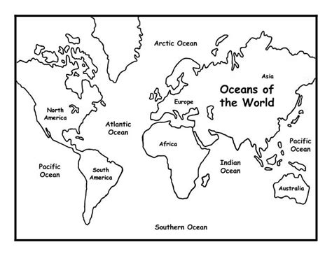 Continents Online Coloring Pages Page 1