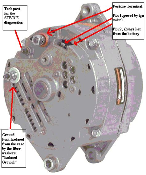 12 volt one wire alternator wiring diagram images one wire alternator wiring diagram conversion of m1008 and m1009 electric systems to 12