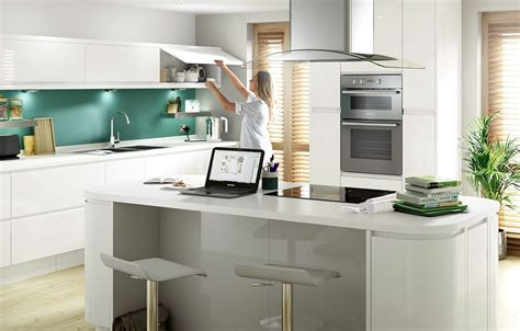 Cooke Lewis Appleby High Gloss White with Integrated