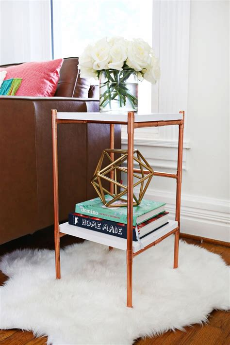 Copper Pipe Side Table DIY A Beautiful Mess