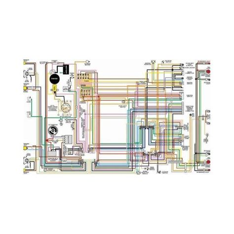 Corvette Color Laminated Wiring Diagram 1953 1981