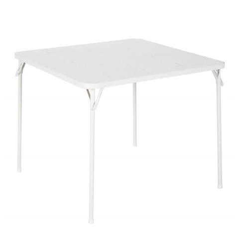 Cosco 34 Square Textured Wood Grain Resin Top Folding