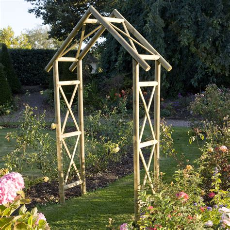 Cottage Wooden Apex Arch Departments DIY at B Q