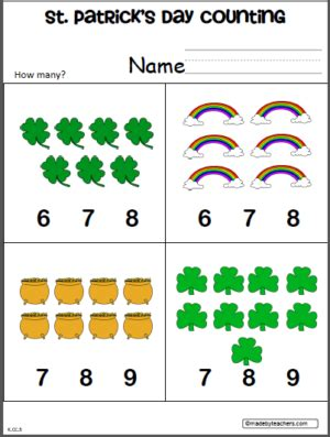 Counting with a Leprechaun St Patrick s Day counting