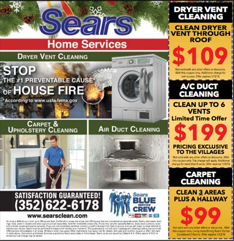 Coupon Welcome to Sears Carpet and Upholstery Cleaning