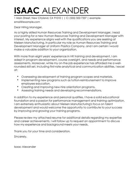 Cover Letter The Centre for Skills Development Training