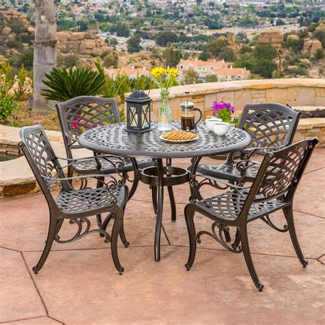 Covington 5 Piece Outdoor Dining Set Traditional